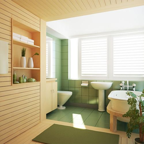 Picture of Fresh Wooden Bathroom Set